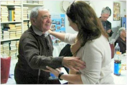 Smiles during one of CFI's Holocaust survivor events.